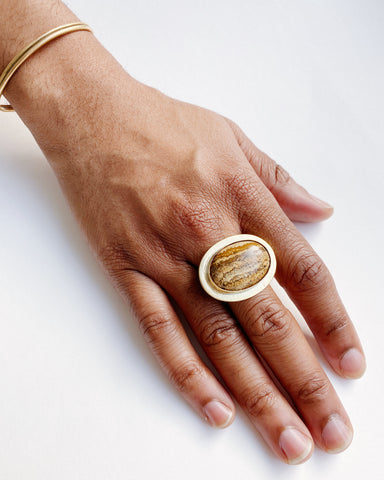 Picture Jasper Statement Ring (Pre-Order)