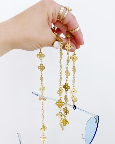 Brass Shapes Eyewear Strap