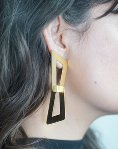 Angled Link Earrings