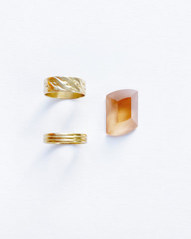 Peach Abstract Recycled TV Glass Ring (Pre-Order)