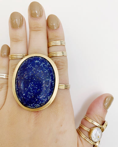 Lapis Statement Ring (PRE-ORDER)