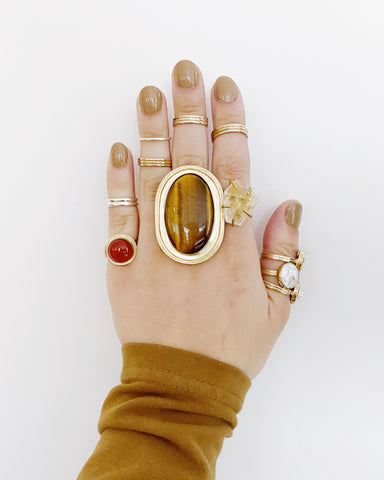 Tiger's Eye Statement Ring (PRE-ORDER)