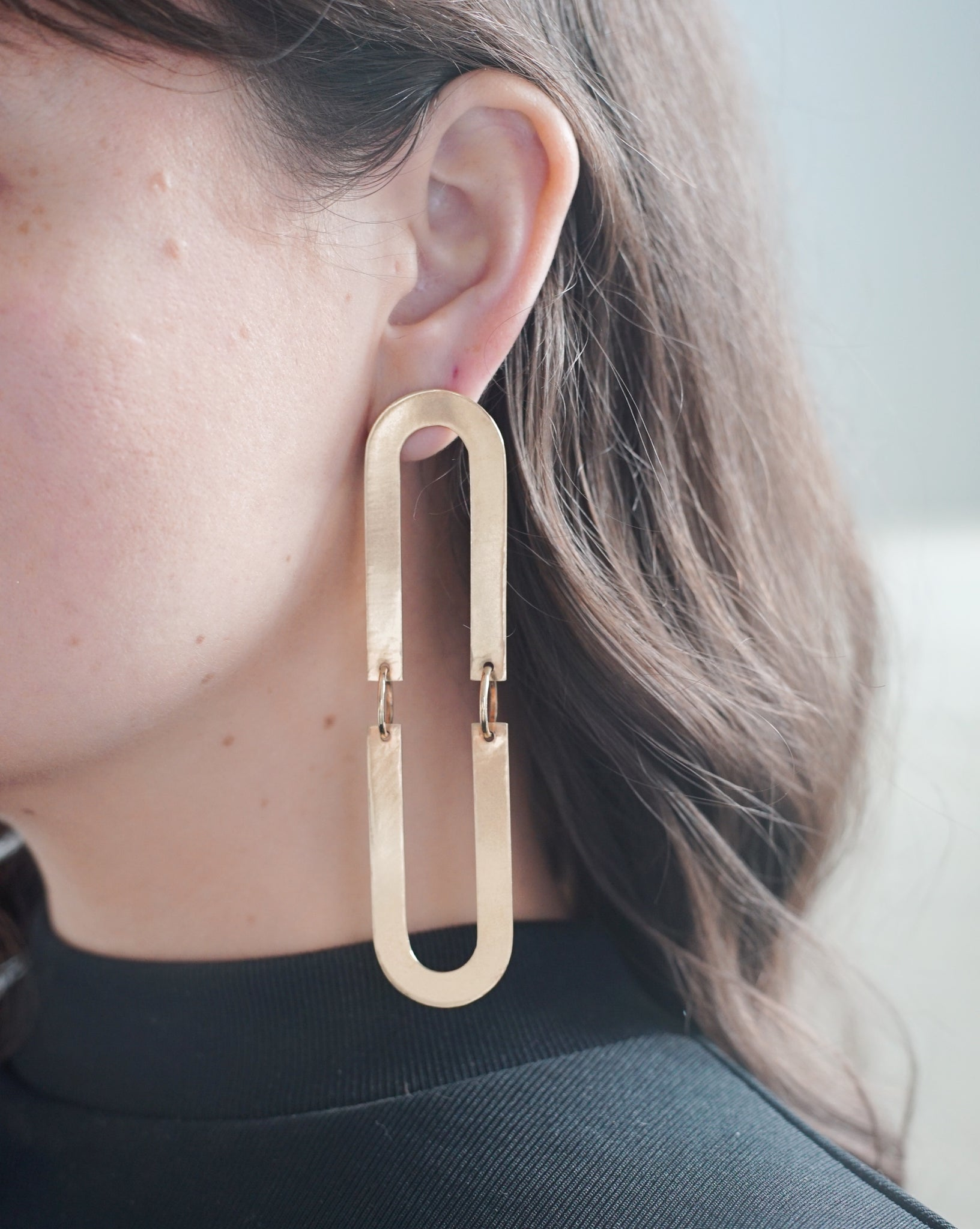 Split Oval Earrings