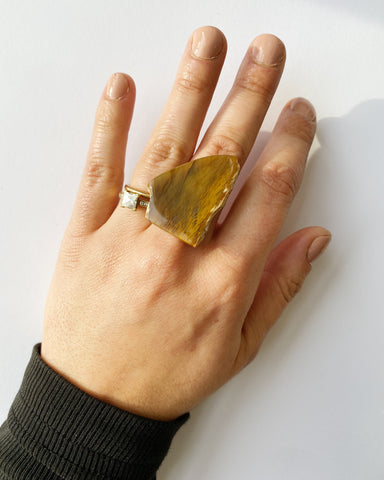 Petrified Wood Statement Ring (PRE-ORDER)
