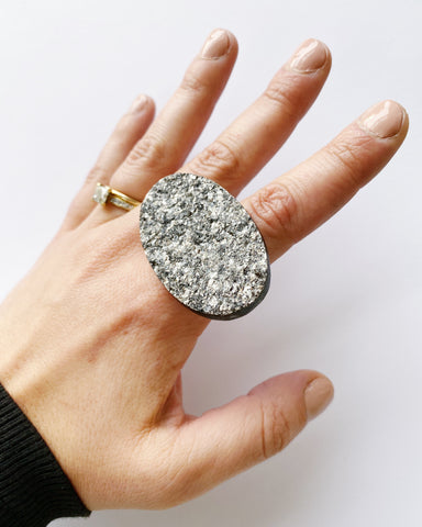 Sparkly Mica Statement Ring (PRE-ORDER)