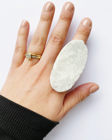 Druzy Quartz Statement Ring (PRE-ORDER)
