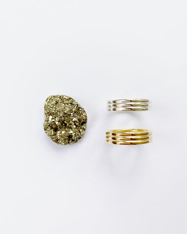 Chunky Pyrite Ring #1 (PRE-ORDER)
