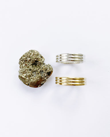 Chunky Pyrite Ring #2 (PRE-ORDER)