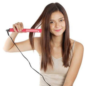 385 2 in 1 Hair Straightener and Curler Machine For Women | Curl & Straight Hair Iron