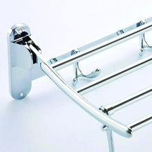 Load image into Gallery viewer, 0491 Stainless Steel Folding Towel Rack Cum Towel Bar 18 Inch