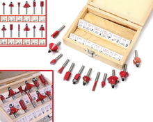 Load image into Gallery viewer, 406 -12/15pcs Milling Cutter Router Bit Set