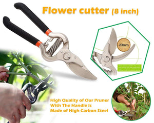 Shopsuper Gardening Tools - Gardening Gloves and Flower Cutter/Scissor/Pruners