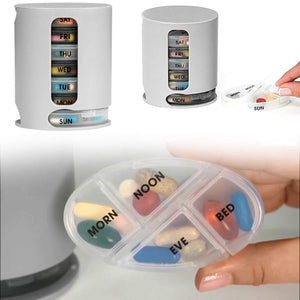 374 Pill Pro 7 Day Weekly Tablet Medicine Organizer Box