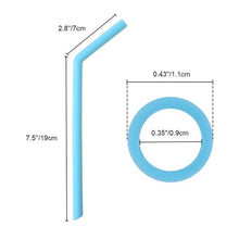 Load image into Gallery viewer, 584 Food Grade Silicone Straws (4pcs)