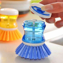Load image into Gallery viewer, 159 Plastic Wash Basin Brush Cleaner with Liquid Soap Dispenser (Multicolour)
