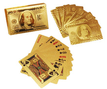 Load image into Gallery viewer, 523 Gold Plated Poker Playing Cards (Golden)