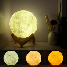 Load image into Gallery viewer, 3D Moon Lamp India/Moon Shaped Lamp/Led Moon Lamp/Lunar Moonlight Lamp - Multi Color
