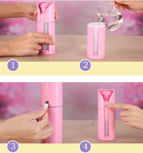 400 Creative Rose Love Air Humidifier Night Light Ultrasonic USB Humidifiers Mist Maker Mini Air Purifier Bedroom Decorations