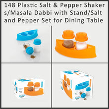 Load image into Gallery viewer, 148 Plastic Salt & Pepper Shakers/Masala Dabbi with Stand/Salt and Pepper Set for Dining Table