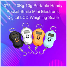 Load image into Gallery viewer, 375 -40Kg 10g Portable Handy Pocket Smile Mini Electronic Digital LCD Weighing Scale