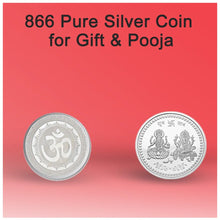 Load image into Gallery viewer, 866 Silver color Coin for Gift & Pooja (Not silver metal)