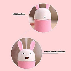 361 Lovely Rabbit Air Humidifier USB Aroma Diffuse with LED Lamp Mini Ultrasonic Cool Mist Maker Fugger for Office Car Air Purifier