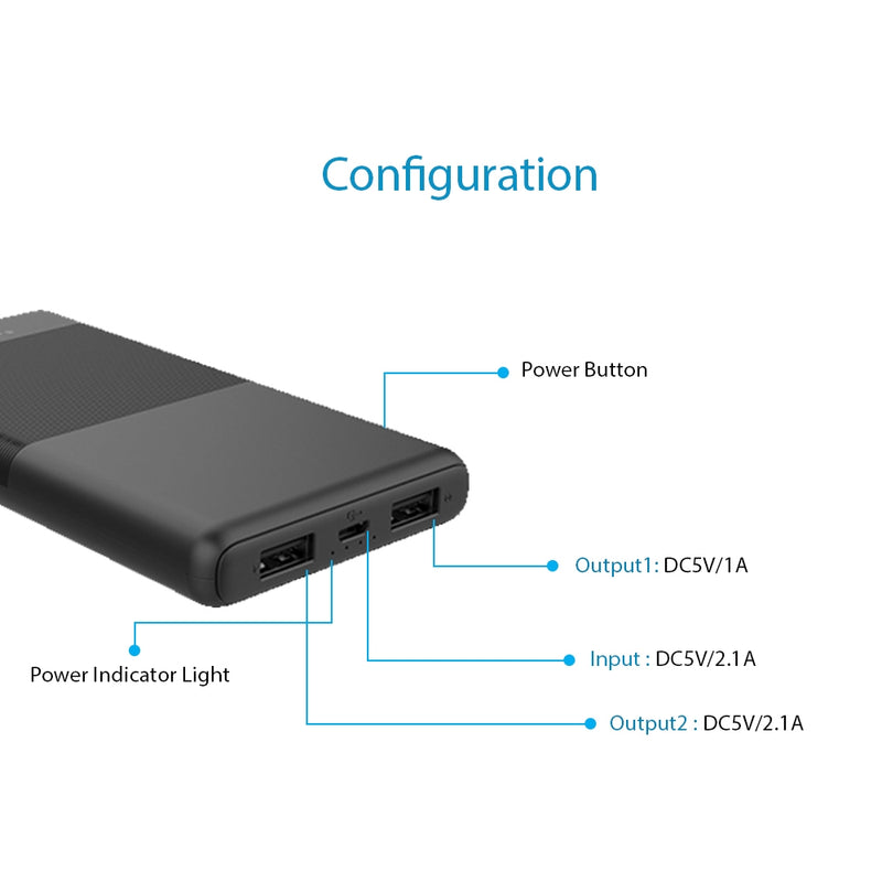 TS-10A | Skinny 10000mah Power Bank