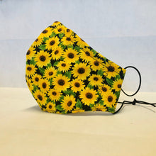 Load image into Gallery viewer, Filter Face Mask - Sunflowers - Adult Regular