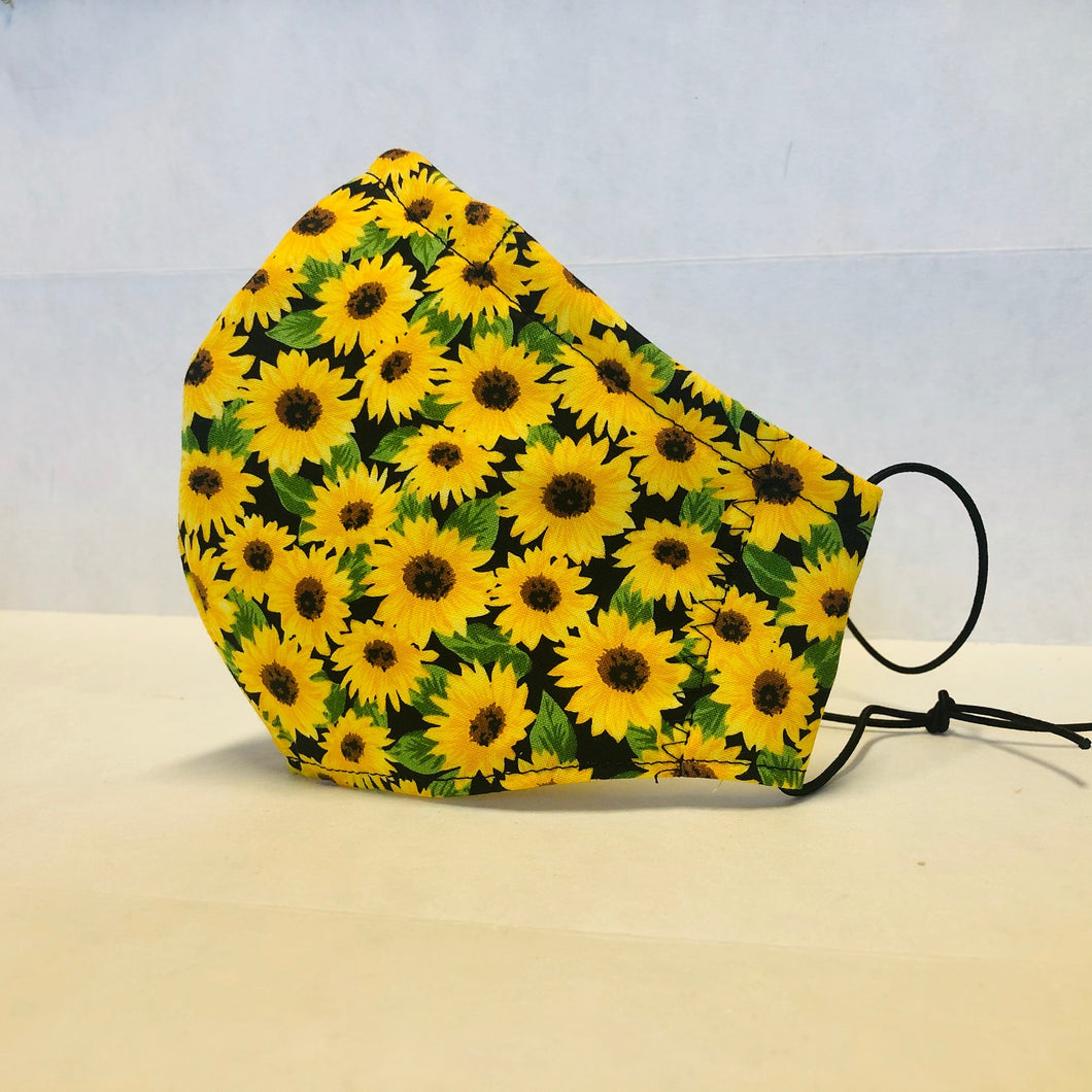 Filter Face Mask - Sunflowers - Adult Regular