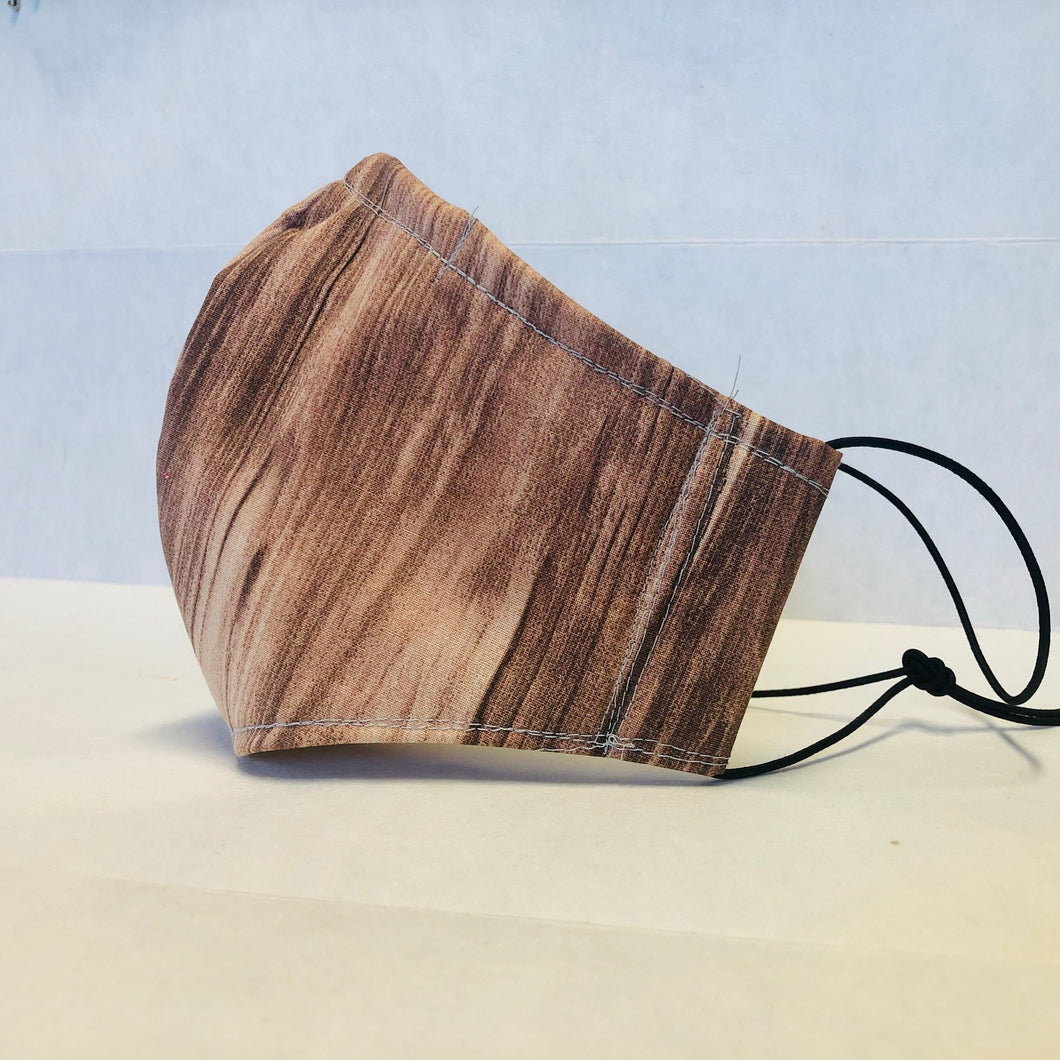 Filter Face Mask - Wood Grain - Adult Regular
