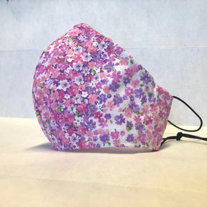 Cloth Face Mask - Pink Ombre' Floral