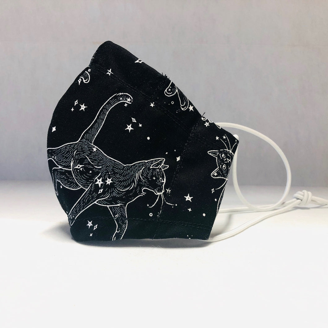 Cloth Face Mask - Cat Constellations - Adult Small Kids Regular