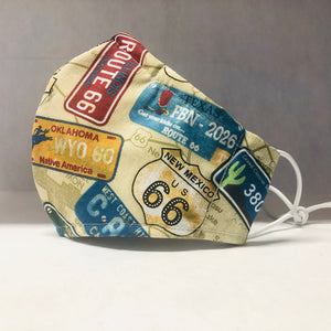 Filter Face Mask - Route 66 - Adult Regular