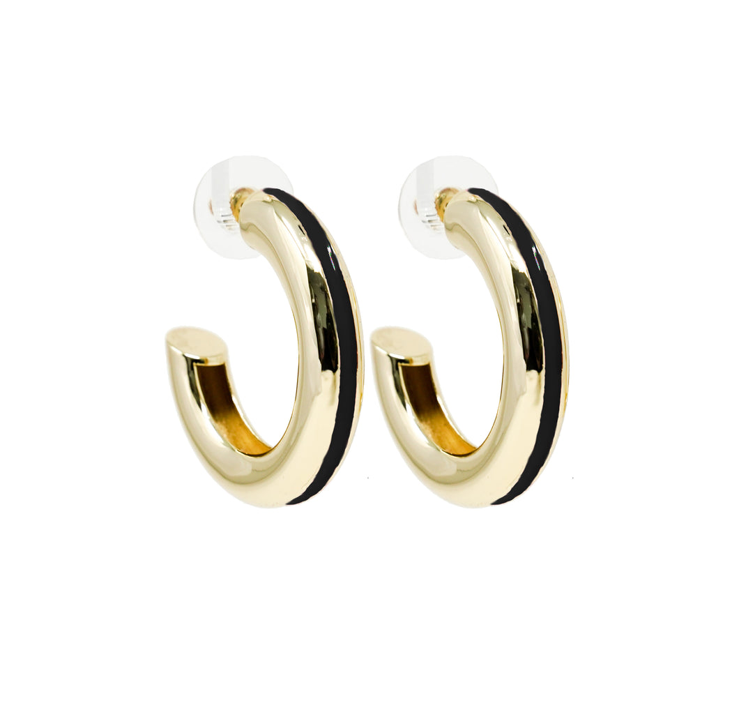 Good Times Hoop Earring - Black