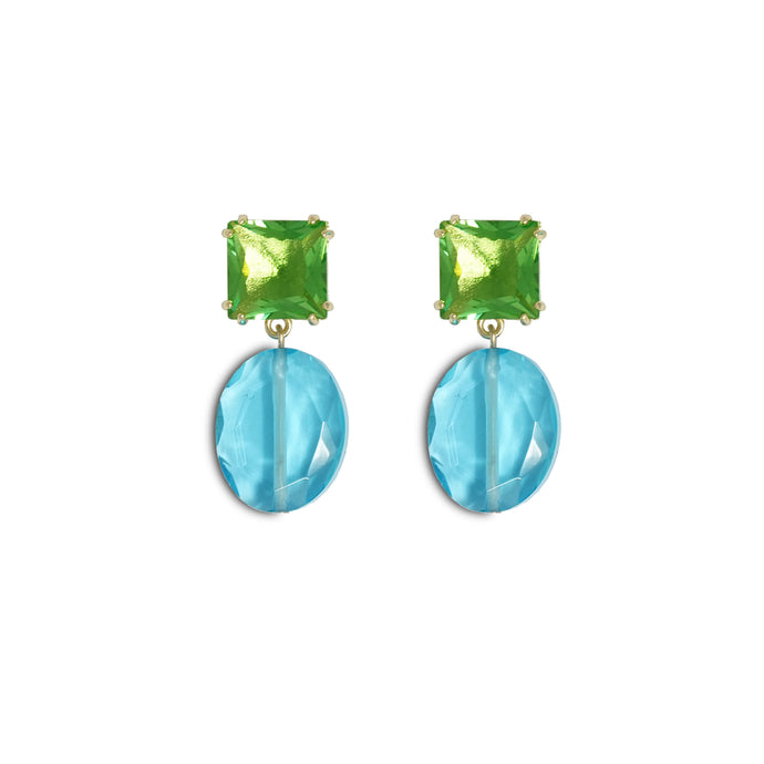 Gem Drop Earrings - Bahama