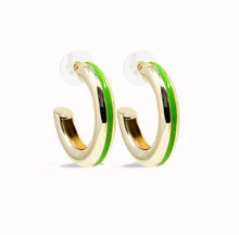 Load image into Gallery viewer, Good Times Hoop Earring - Green