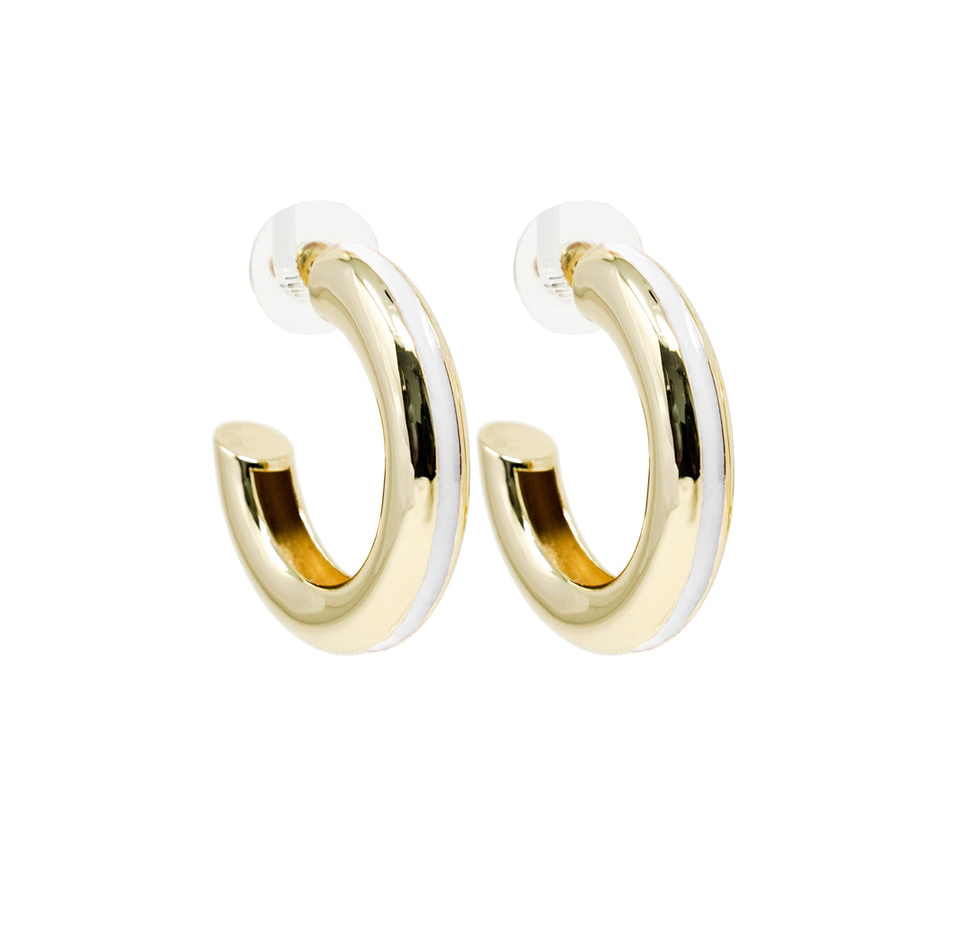 Good Times Hoop Earring - White