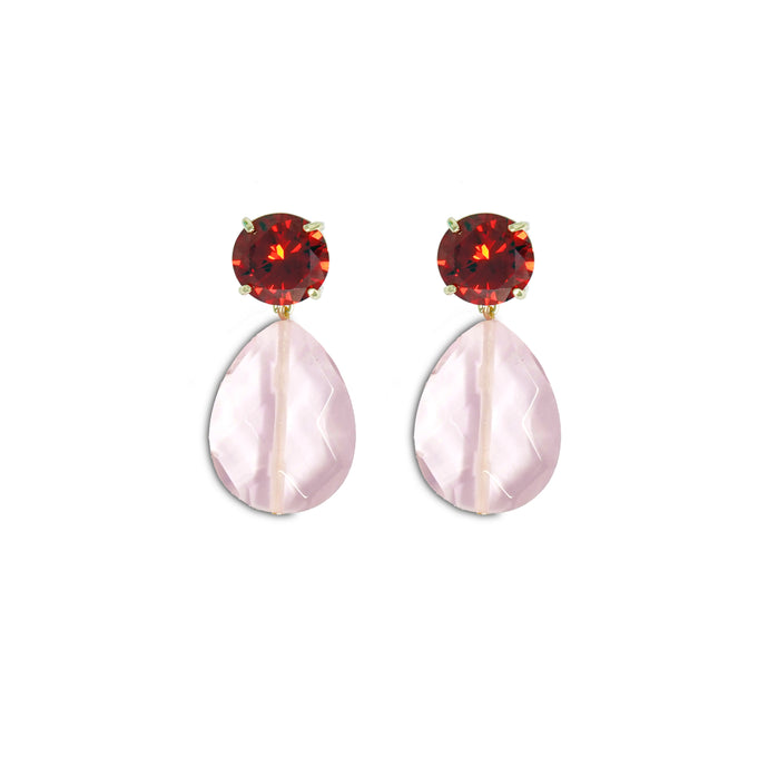 Gem Drop Earrings - Sunset