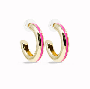 Good Times Hoop Earring - Pink