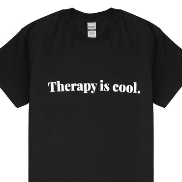 Therapy Is Cool T-Shirt | Black