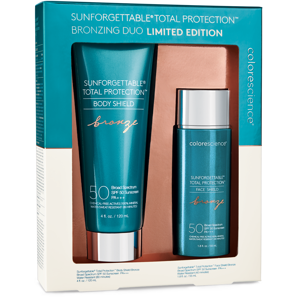 COLORESCIENCE SUNFORGETTABLE® TOTAL PROTECTION™ BODY + FACE SHIELD BRONZE SPF 50