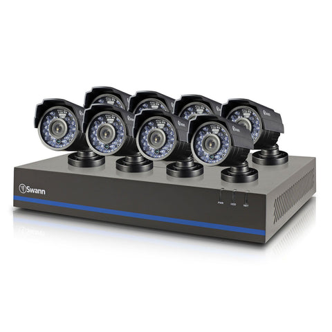 Swann 8 Channel Security System with 1TB Hard Drive, 8 1MP Cameras, 720P SDI DVR, and 82' Night Vision - worldtradesolution.com  - 1