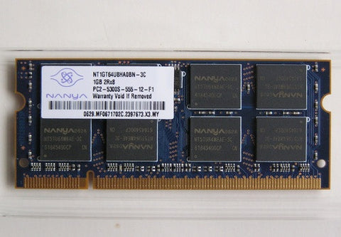 Nanya 1GB PC2-5300S DDR2 NT1GT64U8HA0BN-3C 200p CL5 SODIMM Laptop Memory Non-ECC - worldtradesolution.com  - 1
