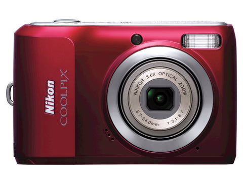 Nikon Coolpix L20 10MP Digital Camera with 3.6 Optical Zoom and 3 inch LCD, (Deep Red) - worldtradesolution.com  - 1