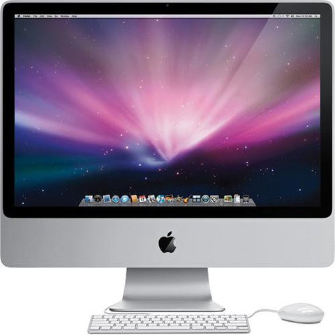 Apple iMac A1225 MB418LL/A 24 Inch 4GB 640GB 256MB VGA 2.66Ghz Intel Core 2 Duo Mac OS X Lion - worldtradesolution.com  - 1
