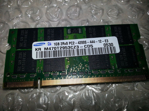 Samsung 1GB DDR2 PC2-4200S-444-12-E3 KR M470T2953CZ3-CD5 0530 Laptop Memory - Non-ECC - worldtradesolution.com