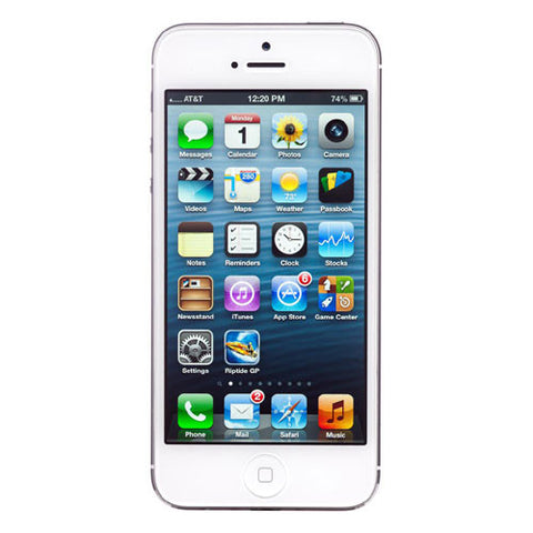 Apple iPhone 5 16GB MD294LL/A 4G LTE AT&T FACTORY UNLOCKED White Like New - worldtradesolution.com  - 1