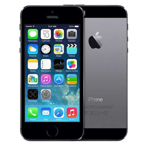 "Apple iPhone 5S 4"" Retina ME344LL/A 32GB Verizon + GSM Factory Unlocked Space Gray - Grade A - worldtradesolution.com  - 1"