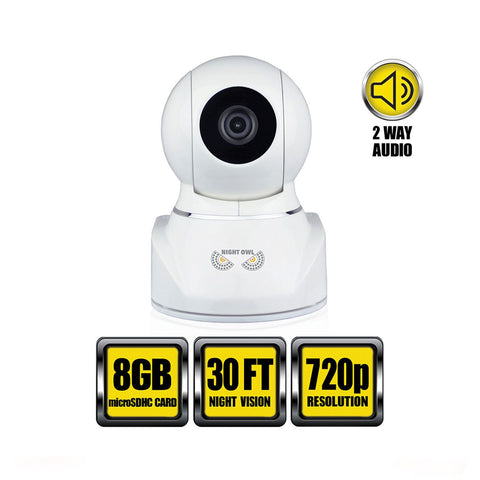 Night Owl - Pan & Tilt HD Wireless IP Security Camera Indoor High-Definition- White - CAM-IPPT-HDW - worldtradesolution.com  - 1