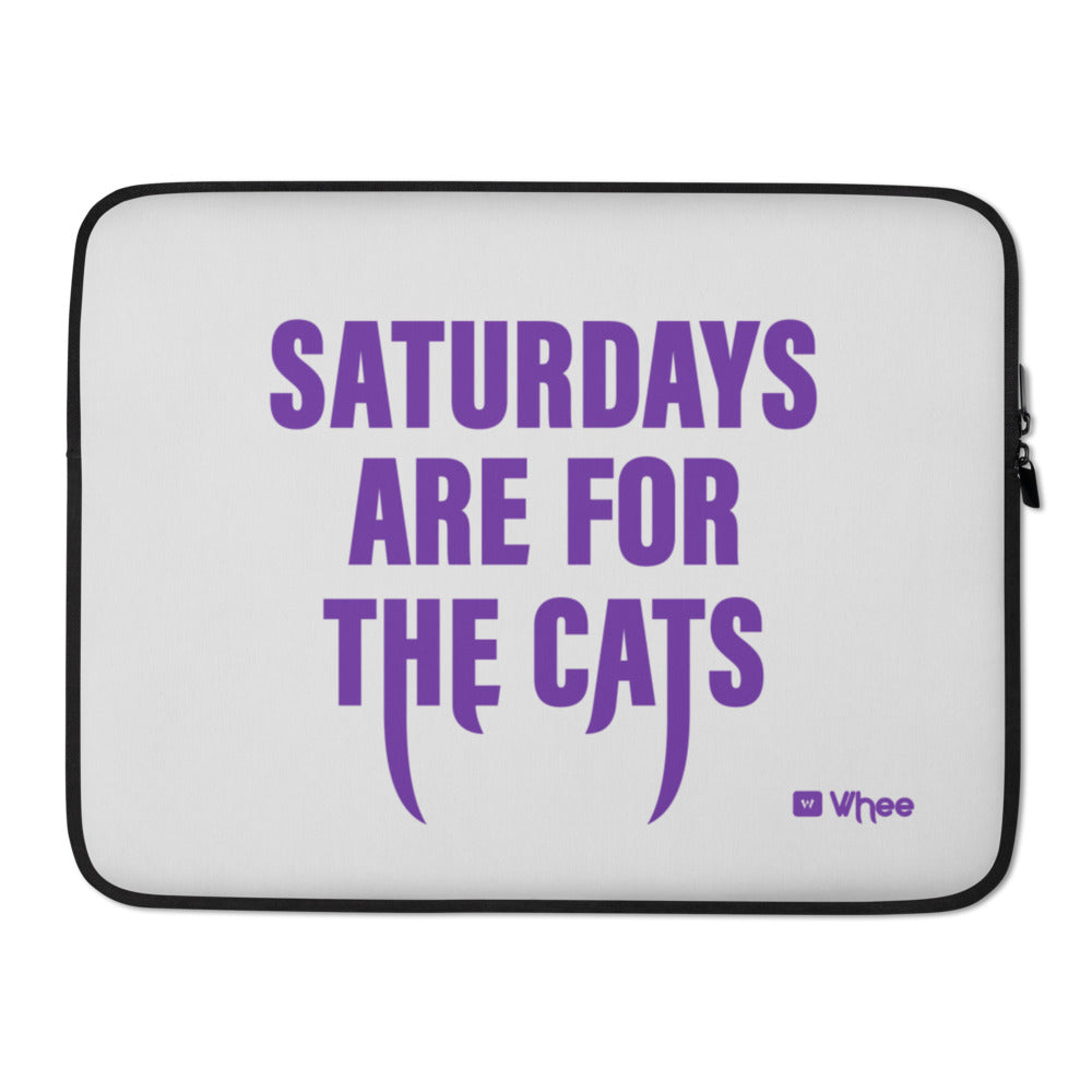 Sats for Cats Laptop Sleeve